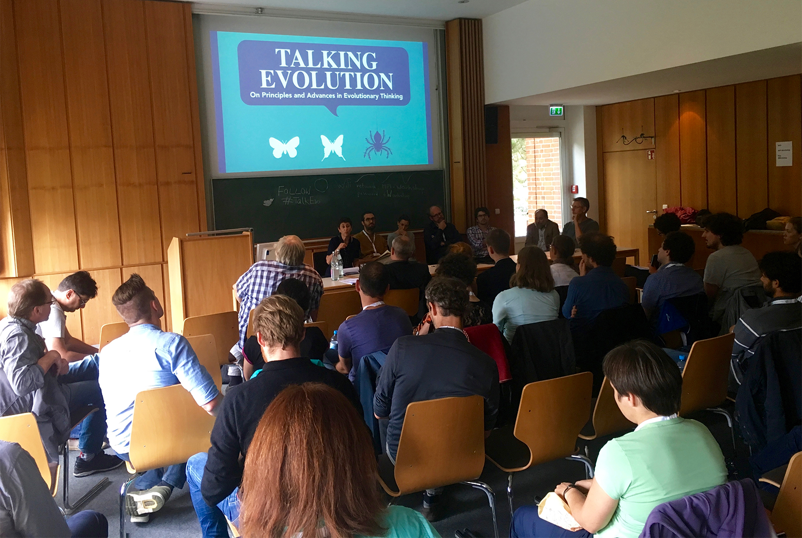 discussion session at Talking Evolution