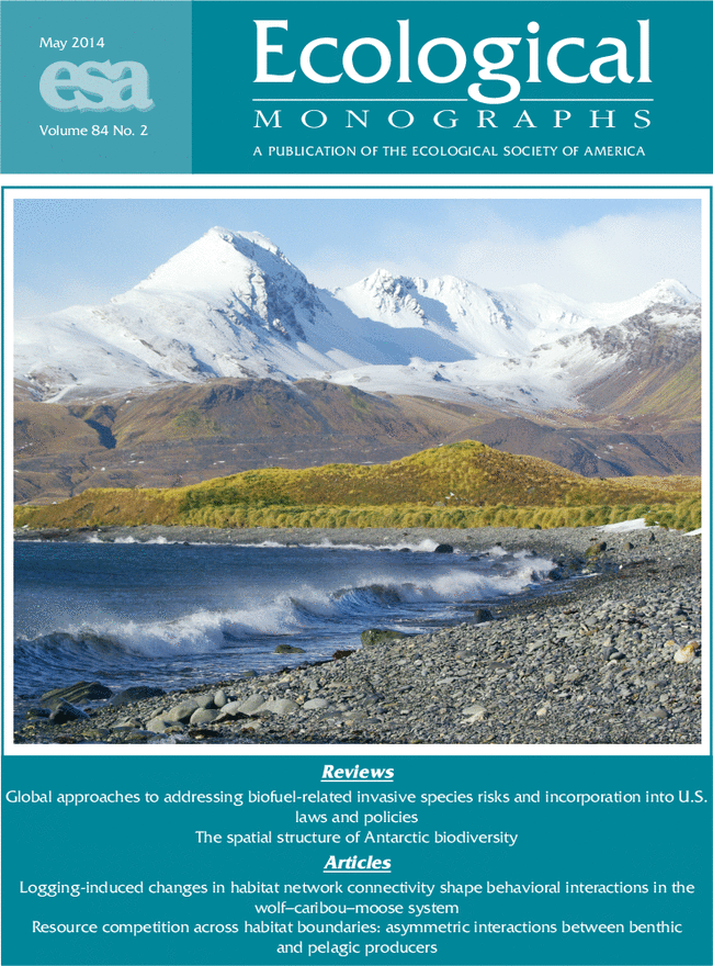 Ecological Monographs front cover