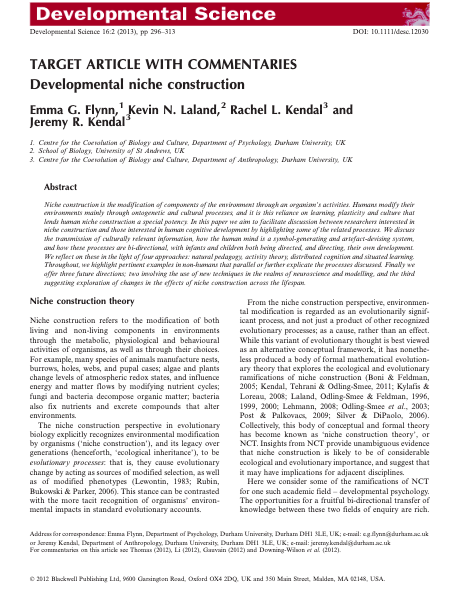 Abstract from Developmental Science 16